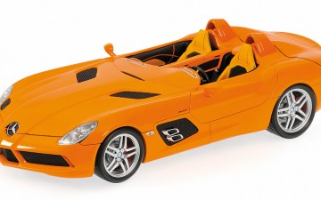 Minichamps: MERCEDES-BENZ SLR STIRLING MOSS (Z199) – 2009 – ORANGE (1/18)