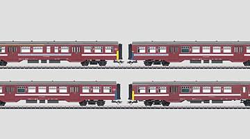 Märklin HO: Set stoptreinrijtuigen (NMBS).