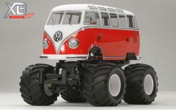 Tamiya : R/C VW T1 WHEELIE (SCHAAL 1/12)