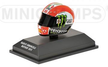 Minichamps : HELM MARCO SIMONCELLI MOTO GP 2011 – SCHAAL 1/