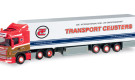 "HERPA :  Scania R 6×2 refrigerated semitrailer ""Ronny Ceusters""(B)"