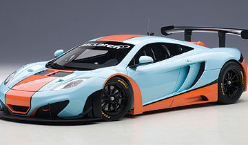 1/18 MCLAREN 12C GT3 (BLUE/ORANGE PAINT SCHEME)