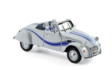 Citroën 2CV Cabriolet Azelle 1990 – White with blue deco