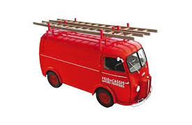 Peugeot D4A 1955 with ladders Pompiers 1/18 – 184707 NOREV