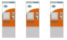 RIETZE : Set met 3 kaartautomaten van de NMBS – schaal 1/87
