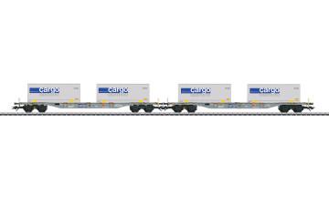MÄRKLIN 47096 : SBB Twee containerwagens met vervangbare laadbakken