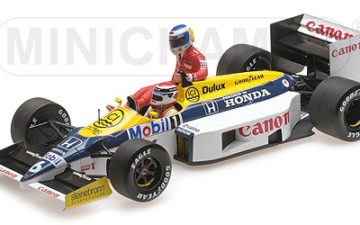 WILLIAMS HONDA FW11 – KEKE ROSBERG RIDING ON NELSON PIQUET – GERMAN GP 1986