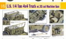 DRAGON – 1/6 U.S. 1/4 Ton 4×4 Truck w/.30 cal Machine Gun