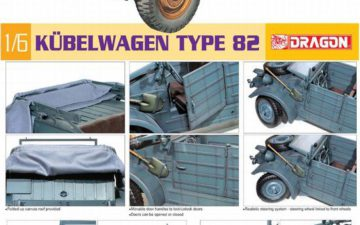 DRAGON : 1/6 KUBELWAGEN TYPE 82